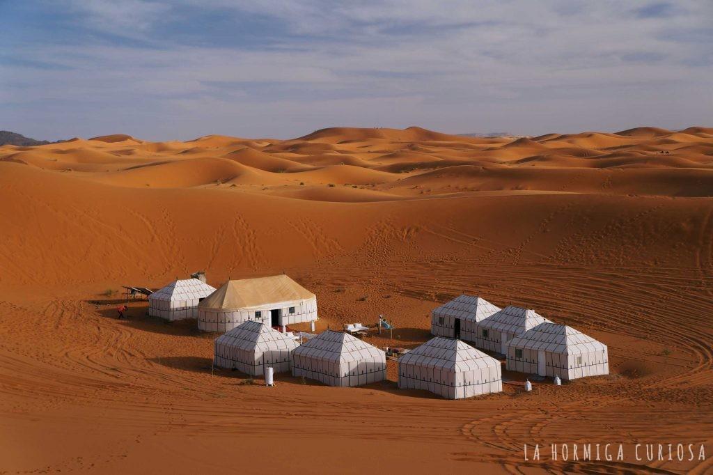 Campamento, viaje desierto Sáhara, Marruecos