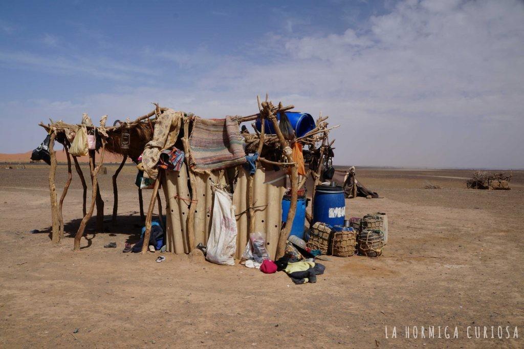 Poblado nómada, viaje desierto Sáhara, Marruecos