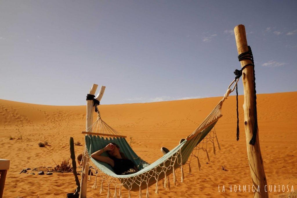 Hamaca, viaje desierto Sáhara